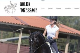 De nieuw WordPress website van Golda Dressage